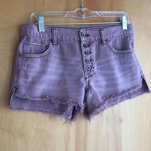 Free People lavender cut-off jean shorts size 26